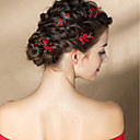olcso Parti fejdíszek-Tüll / Ötvözet Hair Clip / Hair Stick val vel Virág 2db Esküvő / Különleges alkalom Sisak