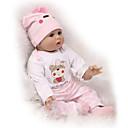 povoljno Autentične bebe-NPKCOLLECTION NPK DOLL Autentične bebe Ponovno rođena kućica za malu djecu 22 inch Silikon - novorođenče vjeran Sladak Sigurno za djecu Non Toxic Ručni primijenjeni trepavice Dječjom Uniseks / CE