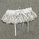 billige Strømpebånd til bryllup-Chiffon Sateng / Blonder Vintage Stil Bryllupsklær Med Rhinsten / Rynker Strømpebånd Bryllup / Fest / aften