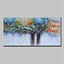 olcso Virág festmények-Hang festett olajfestmény Kézzel festett - Landscape Virágos / Botanikus Modern Tartalmazza belső keret / Nyújtott vászon