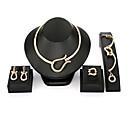 billiga Jewelry Set-Dam Smycken Set geometriska damer Vintage Mode Förstoringar örhängen Smycken Guld Till Maskerad Bar / Örhängen