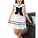Χαμηλού Κόστους Μαγιό για κορίτσια-Παιδιά Κοριτσίστικα Γλυκός Συνδυασμός Χρωμάτων Αμάνικο Φόρεμα Λευκό