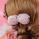 cheap Party Headpieces-Chiffon Headdress with Floral 1 Piece Wedding / Special Occasion Headpiece