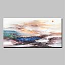 Χαμηλού Κόστους Αφηρημένοι Πίνακες-Hang-ζωγραφισμένα ελαιογραφία Ζωγραφισμένα στο χέρι - Αφηρημένο Τοπίο Κλασσικό Μοντέρνα Περιλαμβάνει εσωτερικό πλαίσιο / Επενδυμένο καμβά