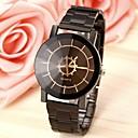 baratos Relógios-Casal Relógio de Pulso Quartzo Aço Inoxidável Preta Relógio Casual Analógico Fashion - Preto
