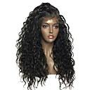 Χαμηλού Κόστους Εξτένσιος μαλλιών με φυσικό χρώμα-Remy Τρίχα Πλήρης Δαντέλα Περούκα Κούρεμα με φιλάρισμα στυλ Βραζιλιάνικη Κυματιστό Μαύρο Περούκα 130% Πυκνότητα μαλλιών με τα μαλλιά μωρών Για μαύρες γυναίκες Γυναικεία Κοντό Μεσαίο Μακρύ