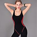 billige Våtdrakter, dykkerdrakter og våtskjorter-Kaiyulang Dame Badedrakt Bodysuit Ermeløs Boyleg - Svømming Lapper / Elastisk