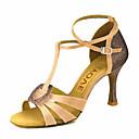 olcso Latin cipők-Női Dance Shoes Szatén Latin cipők / Salsa cipők Csat / Csokornyakkendő Szandál / Magassarkúk Személyre szabott sarok Személyre szabható Bronz / Mandula / Meztelen / Teljesítmény / Bőr / EU37