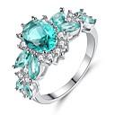 ราคาถูก แหวน-สำหรับผู้หญิง แหวนหมั้น Cubic Zirconia Turquoise เงินสเตอร์ลิง Titanium โลหะ รูปร่างวงกลม Geometric Shape เครื่องประดับชิ้นใหญ่ วินเทจ สง่างาม งานแต่งงาน การหมั้น เครื่องประดับ กลุ่ม HALO