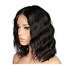 halpa Aitohiusperuukit verkolla-Remy-hius Full Lace Peruukki Bob-leikkaus Lyhyt Bob tyyli Brasilialainen Laineita Peruukki 130% Hiusten tiheys ja vauvan hiukset Luonnollinen hiusviiva Valkaistut solmut Naisten Lyhyt