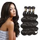 povoljno Ekstenzije od ljudske kose-3 paketa Peruanska kosa Wavy Netretirana  ljudske kose 100% Remy kose tkanja Bundle Crna Prirodna boja Isprepliće ljudske kose proširenje Najbolja kvaliteta Za crnkinje Proširenja ljudske kose / 8A