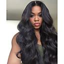 Χαμηλού Κόστους Εξτένσιος μαλλιών με φυσικό χρώμα-Remy Τρίχα Δαντέλα Μπροστά Περούκα στυλ Βραζιλιάνικη Κυματιστό Περούκα 150% Πυκνότητα μαλλιών με τα μαλλιά μωρών 100% παρθένα Γυναικεία Μακρύ Wig Accessories beikashang