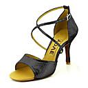 povoljno Cipele za latino plesove-Žene Plesne cipele Eko koža Cipele za latino plesove / Cipele za salsu Kopča / Ukrasna trakica Sandale / Štikle Potpetica po mjeri Moguće personalizirati Crvena / Plava / Zlatan / Koža / EU41
