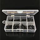 ราคาถูก อุปกรณ์เสริมการตกปลา-80 pcs Tackle Box แนะนำคันเบ็ด เหล็กคาร์บอน ทนทาน ปลาน้ำจืด เหยื่อตกปลา การตกปลาทั่วไป