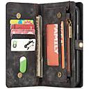 baratos Capinhas para iPhone-Capinha Para Apple iPhone X / iPhone 8 Plus / iPhone 8 Carteira / Porta-Cartão / Com Suporte Capa Proteção Completa Sólido Rígida PU Leather