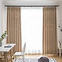 povoljno Prozorske zavjese-zavjese za zamračivanje zastori dvije ploče spavaća soba čvrste boje poliesterska mješavina reljefni