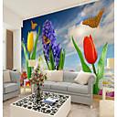 Χαμηλού Κόστους Smartwatch Bands-προσαρμοσμένο λουλούδι πεταλούδα μεγάλο τοίχο που καλύπτει τοιχογραφία ταπετσαρία κατάλληλο για λουτρό γραφείου λουλ
