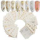 billige Overføringsklistremerker til neglekunst-30 pcs Artificial Nail Tips Nail Art Kit Klistremerker Neglekunst Manikyr pedikyr Bærbar Nail Decals Daglig
