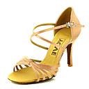 Χαμηλού Κόστους Παπούτσια χορού λάτιν-Γυναικεία Παπούτσια Χορού Σατέν / Μετάξι Παπούτσια χορού λάτιν / Παπούτσια σάλσα Αγκράφα / Κορδέλα Πέδιλα / Τακούνια Προσαρμοσμένο τακούνι Εξατομικευμένο Μπρονζέ / Αμύγδαλο / Δερματί / Επίδοση / EU38