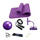 billige Treningsutstyr og tilbehør-Treningsball / yogaball Yoga Matte Hoppetau Resistansebånd / treningsrør 9.84 tommer (ca. 25cm) Diameter PVC NBR Sæt Alt i en Styrketrening Fysioterapi Resistansetrening Yoga & Danse Sko Pilates