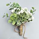 ราคาถูก ดอกไม้งานแต่งงาน-ดอกไม้สำหรับงานแต่งงาน ช่อดอกไม้ที่ใช้ติดเสื้อเจ้าบ่าวและญาติที่เป็นผู้ชายของเจ้าบ่าวและเจ้าสาว / ช่อดอกไม้ข้อมือ งานแต่งงาน / Party / Evening เส้นใยสังเคราะห์ 3.94 inch