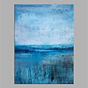 abordables Peintures à Fleurs / Botaniques-Peinture à l'huile Hang-peint Peint à la main - Abstrait Moderne Sans cadre intérieur / Toile roulée