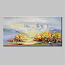 Χαμηλού Κόστους Αφηρημένοι Πίνακες-Hang-ζωγραφισμένα ελαιογραφία Ζωγραφισμένα στο χέρι - Αφηρημένο Τοπίο Μοντέρνα Περιλαμβάνει εσωτερικό πλαίσιο / Επενδυμένο καμβά
