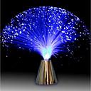 baratos Iluminação Noturna & Decoração-Multicolor led fibra óptica lâmpada luz férias de casamento peça central fibra óptica iluminação led sala de estar decoração de noite