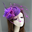 povoljno Party pokrivala za glavu-Perje / Net Fascinators / kape / Šeširi s Perje / Cvjetni print / Cvijet 1pc Vjenčanje / Special Occasion Glava