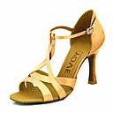 Χαμηλού Κόστους Μοδάτα Σκουλαρίκια-Γυναικεία Παπούτσια Χορού Σατέν Παπούτσια χορού λάτιν / Αίθουσα χορού Τακούνια Προσαρμοσμένο τακούνι Εξατομικευμένο Κίτρινο / Φούξια / Μωβ / Δέρμα / EU41