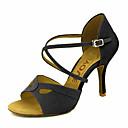 ราคาถูก รองเท้าแบบลาติน-สำหรับผู้หญิง รองเท้าเต้นรำ กำมะหยี่ ลาติน / Salsa หัวเข็มขัด / ผูกริบบิ้น รองเท้าแตะ / ส้น ส้นแบบกำหนดเอง ตัดเฉพาะได้ สีดำ / สีเหลือง / แดง / Performance / หนังสัตว์ / มืออาชีพ / EU39