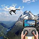 Χαμηλού Κόστους Τ/Κ Quadcopters & Με Πολλαπλούς Έλικες-RC Ρομποτάκι F20G&F20W BNF 4 Kανάλια 6 άξονα 2,4 G Με κάμερα HD 2.0MP 720P Ελικόπτερο RC με τέσσερις έλικες FPV / Επιστροφή με ένα kουμπί / Λειτουργία άμεσου ελέγχου Ελικόπτερο RC με T / 120 μοίρες