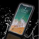 olcso iPhone tokok-Case Kompatibilitás Apple iPhone X / iPhone 8 Plus / iPhone 8 Vízálló Héjtok Egyszínű Puha TPU