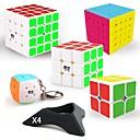 Χαμηλού Κόστους Μαγικοί κύβοι-9 τμχ Magic Cube IQ Cube QIYI QIYI-A Pyramorphix Alien Mini 2*2*2 3*3*3 4*4*4 5*5*5 Ομαλή Cube Ταχύτητα Μαγικοί κύβοι Κατά του στρες παζλ κύβος / Non Toxic / επαγγελματικό Επίπεδο / Επαγγελματικό