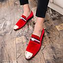 Χαμηλού Κόστους Αντρικές Παντόφλες & Σαγιονάρες-Ανδρικά Τα επίσημα παπούτσια Σουέτ Φθινόπωρο Βρετανικό Μοκασίνια & Ευκολόφορετα Μαύρο / Κόκκινο / Γάμου / Καρφιά / Πάρτι & Βραδινή Έξοδος / Suede παπούτσια / EU42
