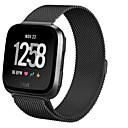 ราคาถูก สายรัดข้อมือสมาร์ท-สายนาฬิกา สำหรับ Fitbit Versa Fitbit สายสแตนเลส Milanese เหล็ก สายห้อยข้อมือ