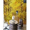 ราคาถูก ภาพจิตรกรรมฝาผนัง-ฤดูใบไม้ร่วงป่าสีทองที่กำหนดเองทำผนังครอบคลุม 3D วอลล์เปเปอร์จิตรกรรมฝาผนังที่เหมาะสมสำหรับห้องนอนห้องรับแขก