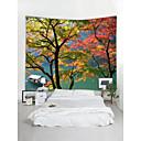 billige Wall Tapestries-Hage Tema Landskap Veggdekor polyester Moderne Tradisjonell Veggkunst, Veggtepper Dekorasjon