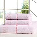 billige Badehåndkle-Overlegen kvalitet Badehåndkle / Hånd håndklæ, Ensfarget Polyester / Bomull 3 pcs