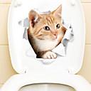 baratos Adesivos de Parede-Autocolantes de Frigorífico Autocolantes de Banheiro - Etiquetas de parede de animal Animais 3D Sala de Estar Quarto Banheiro Cozinha