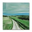 billiga Cykeltröjor-Hang målad oljemålning HANDMÅLAD - Abstrakt Landskap Samtida Moderna Inkludera innerram / Sträckt kanfas