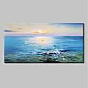 baratos Pinturas Abstratas-Pintura a Óleo Pintados à mão - Abstrato Paisagem Modern Incluir moldura interna / Lona esticada