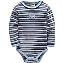 billige BabyGutterdrakter-Baby Gutt Grunnleggende Daglig / Ferie Stripet Langermet Bomull Body Blå