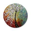 baratos Pinturas Abstratas-Pintura a Óleo Pintados à mão - Abstrato Floral / Botânico Contemprâneo Modern Incluir moldura interna / Lona esticada