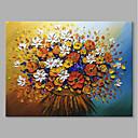 Χαμηλού Κόστους Πίνακες με Λουλούδια/Φυτά-Hang-ζωγραφισμένα ελαιογραφία Ζωγραφισμένα στο χέρι - Νεκρή Φύση Άνθινο / Βοτανικό Σύγχρονο Μοντέρνα Περιλαμβάνει εσωτερικό πλαίσιο / Επενδυμένο καμβά