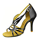 ราคาถูก Magic Cubes-สำหรับผู้หญิง รองเท้าเต้นรำ PU ลาติน / Salsa หัวเข็มขัด / ผูกริบบิ้น รองเท้าแตะ / ส้น ส้นแบบกำหนดเอง ตัดเฉพาะได้ เงิน / น้ำเงิน / ทอง / Performance / หนังสัตว์ / มืออาชีพ / EU39