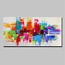 povoljno Slike krajolika-Hang oslikana uljanim bojama Ručno oslikana - Sažetak Pop art Moderna Uključi Unutarnji okvir / Prošireni platno