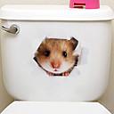 ราคาถูก สติกเกอร์ติดเล็บ-สติ๊กเกอร์แปะตู้เย็น สติ๊กเกอร์ห้องน้ำ - สติกเกอร์ติดผนังสัตว์ สัตว์ต่างๆ 3D ห้องนั่งเล่น ห้องนอน ห้องอาบน้ำ ครัว ห้องอาหาร Study Room /