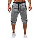 ราคาถูก รองเท้าและอุปกรณ์เสริม-สำหรับผู้ชาย พื้นฐาน ทุกวัน กางเกงวอร์ม / กางเกงขาสั้น กางเกง - สีพื้น สีดำ เทาเข้ม เทาอ่อน L XL XXL