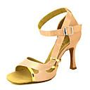 ราคาถูก รองเท้าแบบลาติน-สำหรับผู้หญิง รองเท้าเต้นรำ ซาติน ลาติน / Salsa หัวเข็มขัด / ผูกริบบิ้น รองเท้าแตะ / ส้น ส้นแบบกำหนดเอง ตัดเฉพาะได้ เหลือง / สีบานเย็น / ม่วง / Performance / หนังสัตว์ / มืออาชีพ / EU39